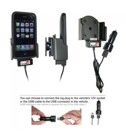 521106 Active holder with cig-plug for the Apple iPhone 3G/3GS