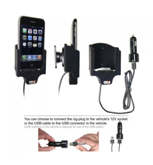 907255 Active holder with cig-plug for the Apple iPhone 3G/3GS