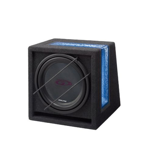"""Alpine SBG-1244BR - Bass Pack SWG-1244 12"""" Subwoofer with Box Enclosure"""