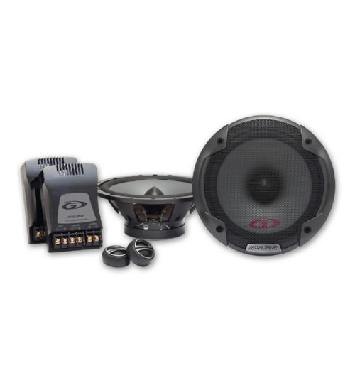 "Alpine SPG-17CS - Type-G Series 6-1/2"" 16.5cm 2-way 280W Coaxial Component Car Speakers"