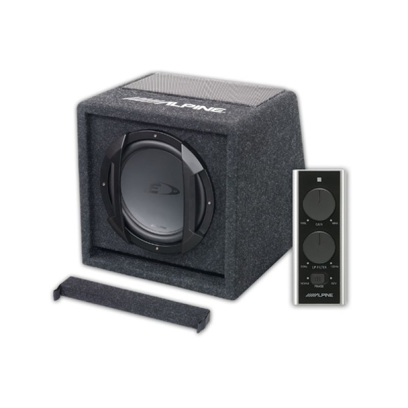 alpine swe 815 300w 8 20cm amplified subwoofer bass. Black Bedroom Furniture Sets. Home Design Ideas