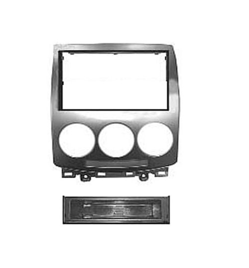 Connects2 Double Din Fascia Panel Adaptor For Mazda - Silver - FP-26-02 - CT24MZ05