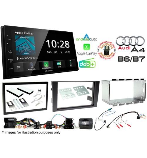 Kenwood DMX5020DABS Car Audio System & Complete Audi A4 Stereo Fitting Kit Bundle CTKAU02