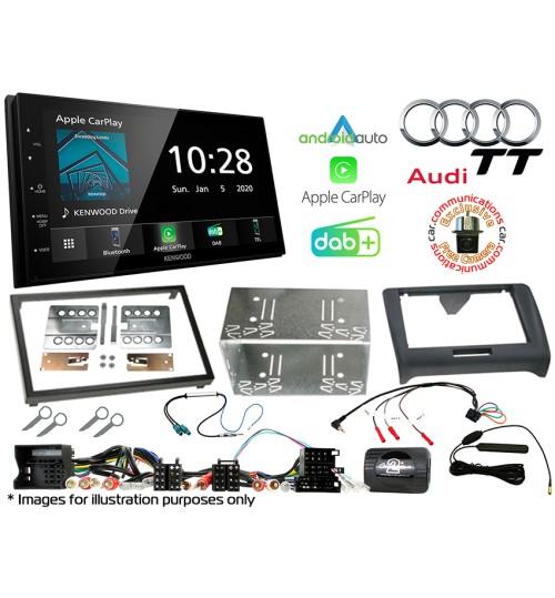 Kenwood DMX5020DABS Car Audio System & Complete Audi TT Stereo Fitting Kit Bundle CTKAU03