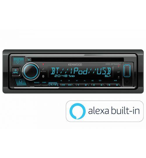 Kenwood KDC-BT640U CD/USB-Receiver with Bluetooth built-in, Spotify & Amazon Alexa ready