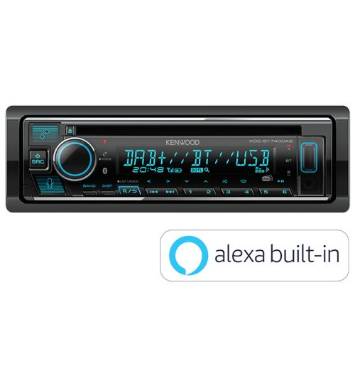 Kenwood KDC-BT740DAB DAB+ Car CD Stereo with Amazon Alexa