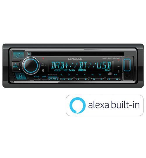 Kenwood KDC-BT740DAB DAB+ Car CD Stereo with Amazon Alexa