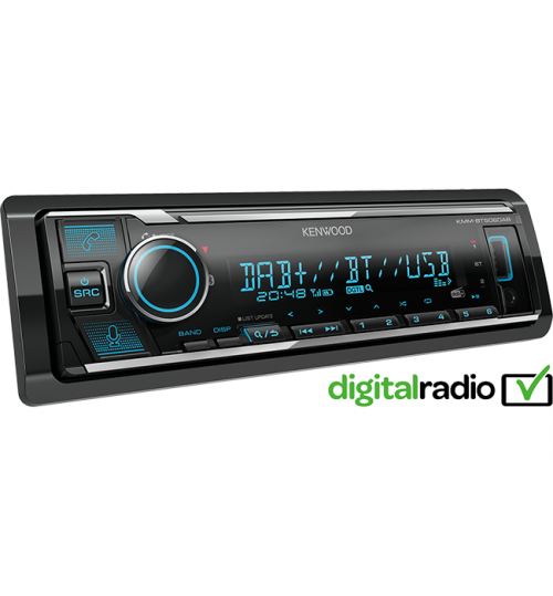 Kenwood KMM-BT506DAB DAB+ Car Stereo with Amazon Alexa
