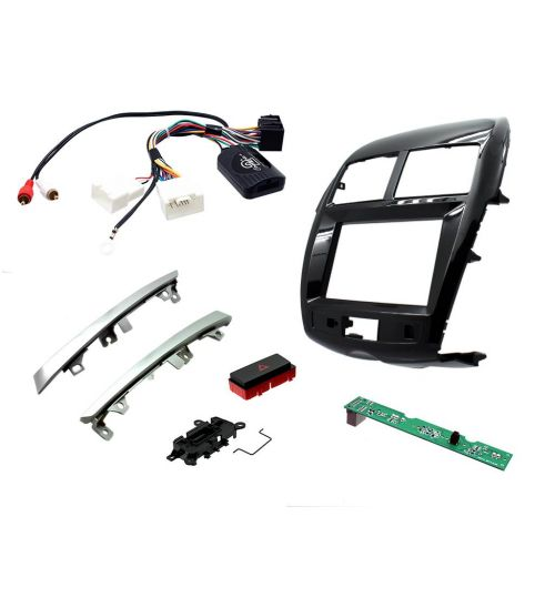 Connects2 Car Stereo Fitting Kit Double DIN Facia Radio Installation For Mitsubishi -  CTKMT10