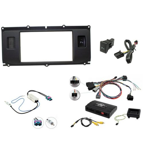 Connects2 Car Stereo Fitting Kit Double DIN Facia Radio Installation For Land Rover - CTKLR01