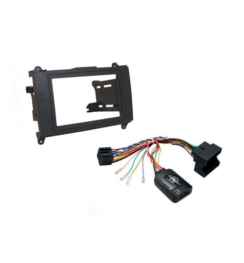 Connects2 Car Stereo Fitting Kit Double DIN Facia Radio Installation For Mercedes - CTKMB18