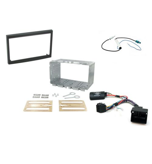 Connects2 Car Stereo Fitting Kit Double DIN Facia Radio Installation For Peugeot - CTKPE03