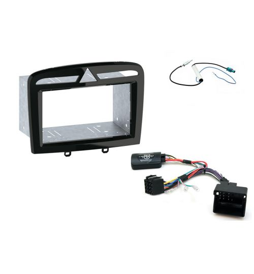 Connects2 Car Stereo Fitting Kit Double DIN Facia Radio Installation For Peugeot - CTKPE05