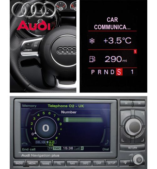 Genuine Audi A3/ A4/ TT/ R8 Bluetooth Telephone for RNS-E, BNS 5.0 / Concert 2+ Radio
