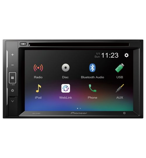 Pioneer AVH-A240BT Car Stereo  2-DIN - Bluetooth - CD/DVD - USB - iPhone - Android