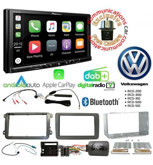 Pioneer SPH-DA230DAB Car Audio System & Complete Volkswagen Stereo Fitting Kit Bundle