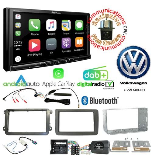 Pioneer SPH-DA230DAB Car Audio System & Complete Volkswagen Stereo Fitting Kit Bundle - MIB-PQ
