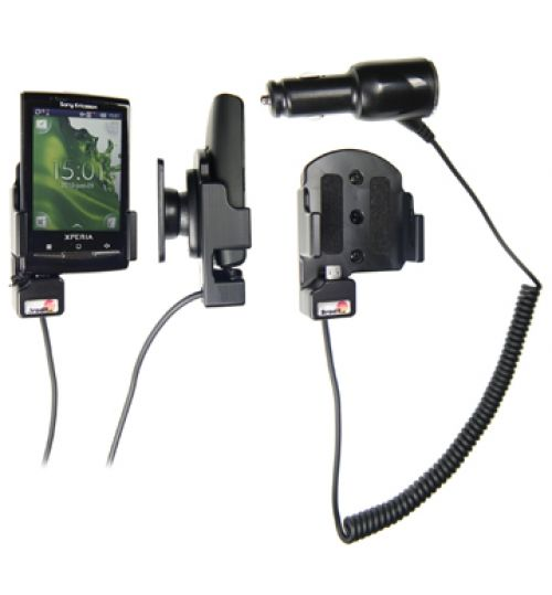 512155 Active holder with cig-plug for the Sony Ericsson Xperia X10 mini