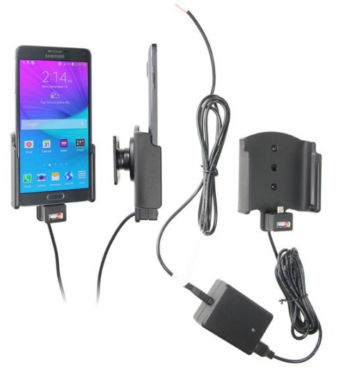 513683 Active holder for fixed installation for the Samsung Galaxy Note 4 with Molex Adapter System 2A Charger