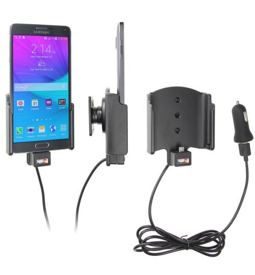 521683 Active holder with cig-plug for the Samsung Galaxy Note 4 With USB Cable