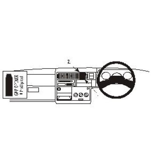 Volkswagen Caravelle, Transporter T4 Brodit ProClip Mounting Bracket - Center mount (652296)