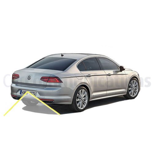 VW Passat B7 Rear Camera Kit with Emblem Camera & Moving Guidelines