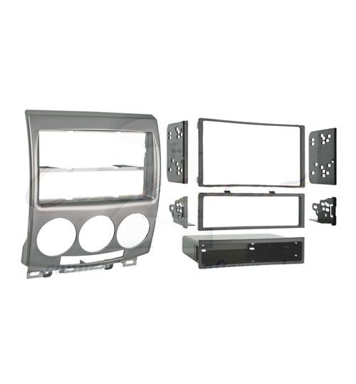 Connects2 Double Din Stereo Fascia Adaptor For Mazda -  Silver - CT23MZ06