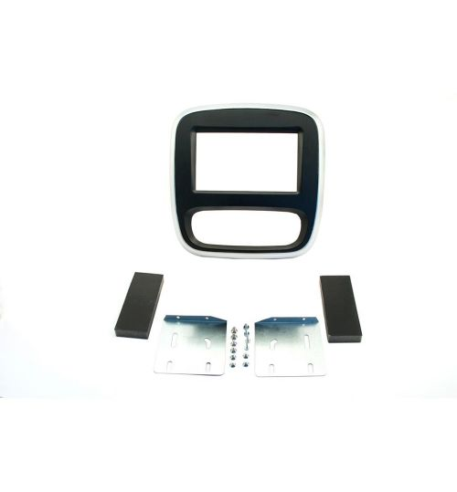 Connects2 Double Din Fascia (Black/Silver) - Renault Trafic- CT23RT10