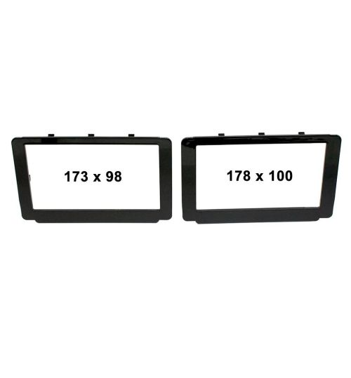 Connects2 Retrofit Car Stereo Fascia Plate (Black) Toyota Hilux 2015-2018 - CT23TY59