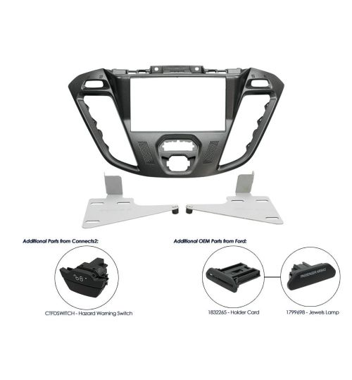 Connects2 Double DIN Stereo Fascia Adaptor For Ford - CT23FD39