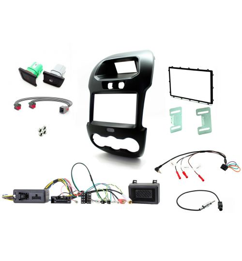 Connects2 Car Stereo Fitting Kit Double DIN Facia Radio Installation For Ford - CTKFD40C