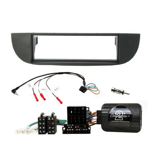 Connects2 Retrofit Car Stereo Fitting Kit Fiat 500 (Type 312) Black - CTKFT25
