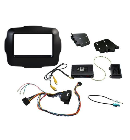Connects2 Car Stereo Fitting Kit Double DIN Facia Radio Installation For Jeep - CTKJP01