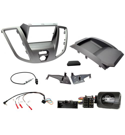 Car Stereo Fitting Kit - Ford Transit V363 Grey - CTKFD88