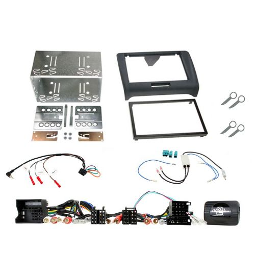 Connects2 Car Stereo Fitting Kit Double DIN Facia Radio Installation For Audi - CTKAU03
