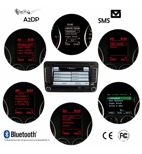 FISCON Handsfree OEM Bluetooth - Basic-Plus - VW, Skoda 36496