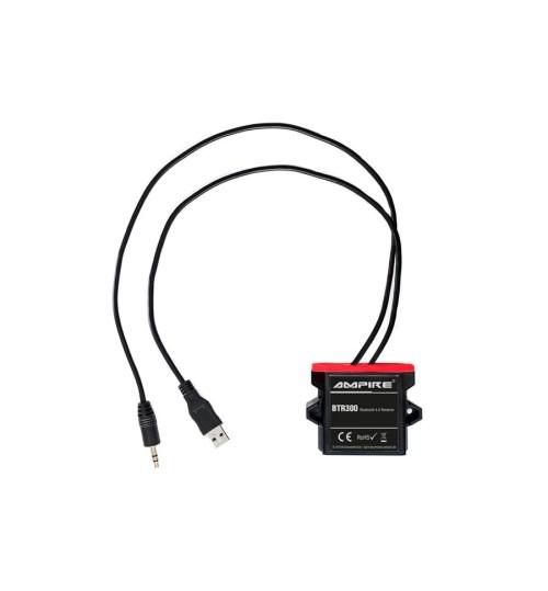 A2DP Bluetooth Receiver 3.5 mm jack, USB Ampire BTR300 - 41026