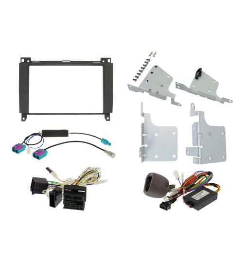 Alpine Installation Kit with CAN Interface and Steering Wheel Remote Control Interface for Mercedes - KIT-802MB