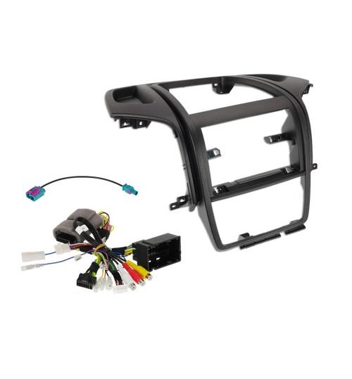 "Alpine KIT-902DU-BT 9"" Installation Kit for Fiat , Citroën, Peugeot with 2 DIN original VP1 radio system with Bluetooth"
