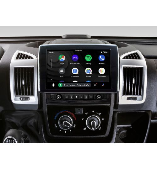 "Alpine X903D-DU 9"" Touch Screen Navigation for Fiat Ducato III, Citroën Jumper II and Peugeot Boxer II"