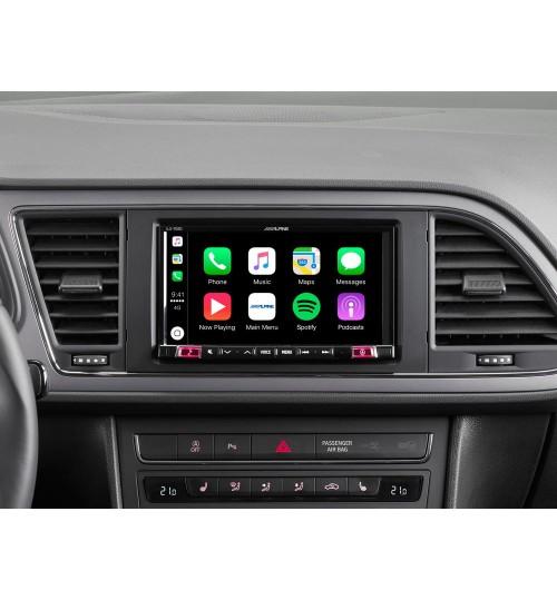 "Alpine iLX-702LEON 7"" Screen DAB GPS Bluetooth Carplay Android Auto Car Stereo"
