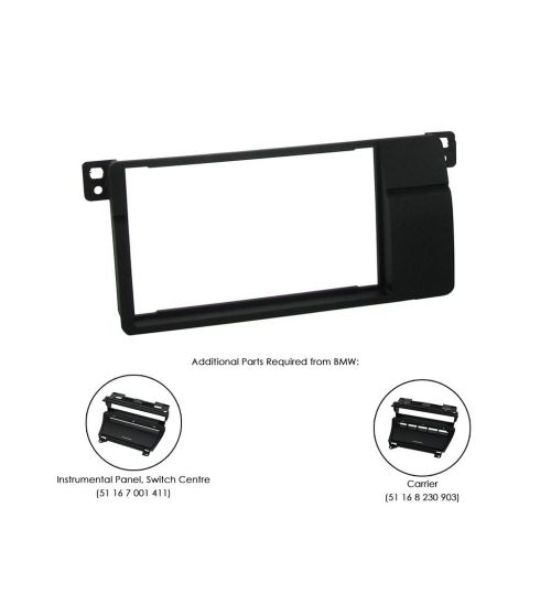 Connects2 Double DIN Stereo Fascia Plate For BMW - CT23BM03