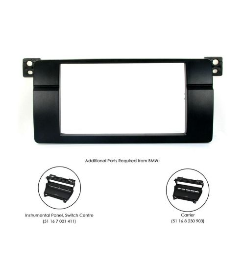 Connects2 Double DIN Stereo Fascia Plate For BMW - CT23BM07