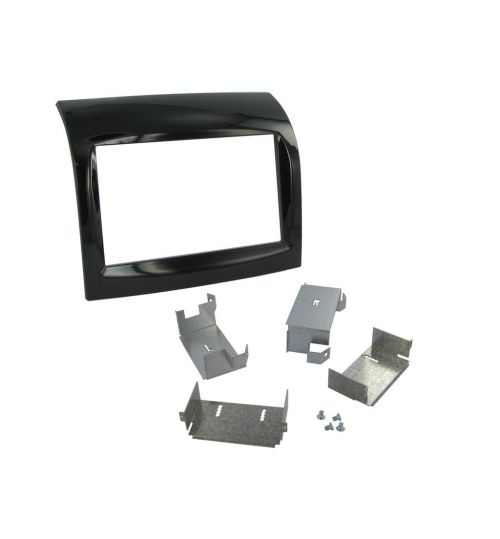 Connects2 Double DIN Stereo Gloss Black Fascia Plate For Citroen - CT23CT07