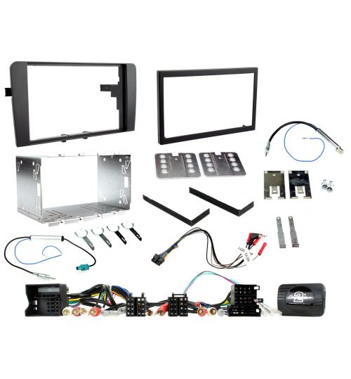 Connects2 Car Stereo Fitting Kit Double DIN Facia Radio Installation For Audi - CTKAU01