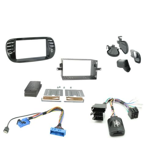 Connects2 Car Stereo Fitting Kit Double DIN Facia Radio Installation For Fiat - CTKFT02