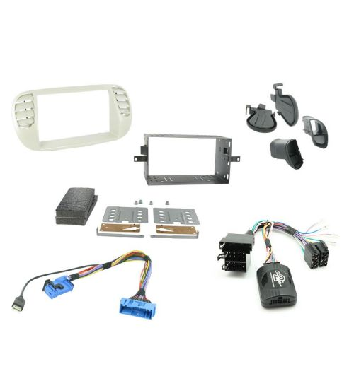 Connects2 Car Stereo Fitting Kit Double DIN Facia Radio Installation For Fiat - CTKFT05