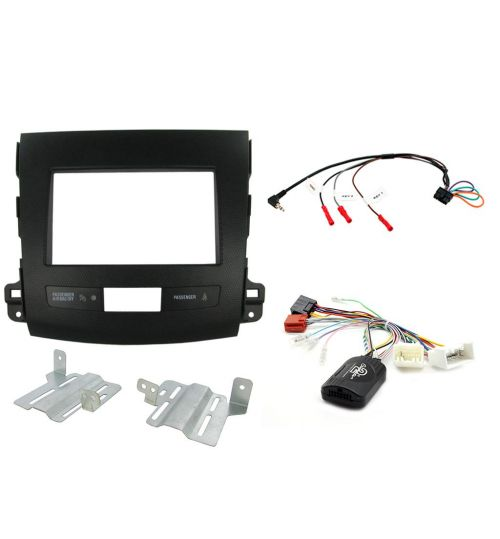 Connects2 Car Stereo Fitting Kit Double DIN Facia Radio Installation For Mitsubishi - CTKMT01