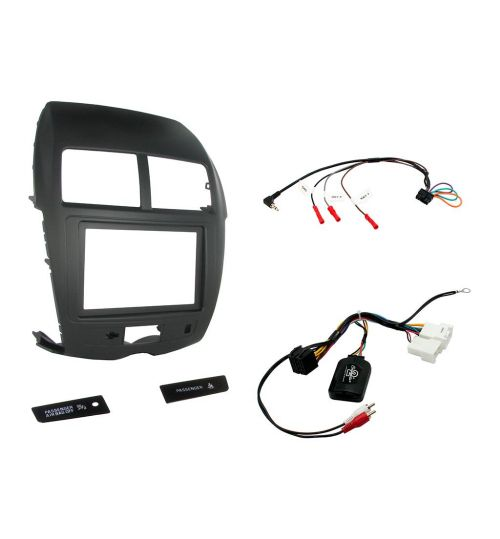 Connects2 Car Stereo Fitting Kit Double DIN Facia Radio Installation For Mitsubishi - CTKMT02