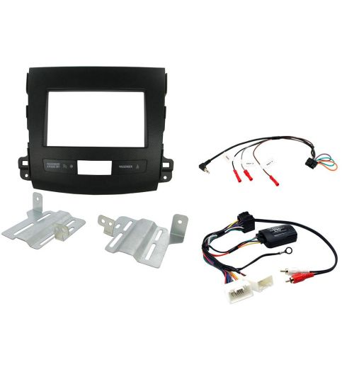 Connects2 Car Stereo Fitting Kit Double DIN Facia Radio Installation For Mitsubishi - CTKMT03